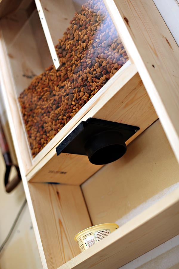 Dog Kennel Bulk Food Dispenser